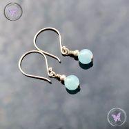 Classical Aquamarine Silver Earrings